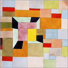 Galleritryck  Split color squares - Paul Klee