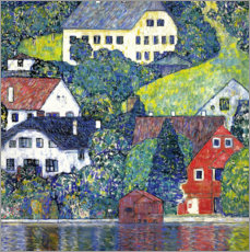 Premiumposter  Houses at Unterach on the Attersee - Gustav Klimt