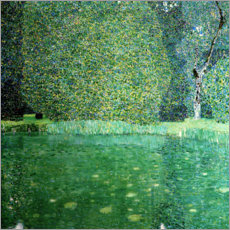 Premiumposter  Castle Pond in Kammer at Attersee - Gustav Klimt