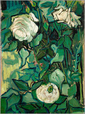 Galleritryck  Roses and Beetle - Vincent van Gogh