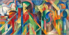 Canvastavla  Stables - Franz Marc