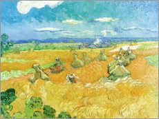 Premiumposter  Wheat Field with Reaper - Vincent van Gogh