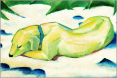Akrylglastavla  Dog Lying in the Snow - Franz Marc