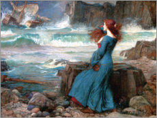 Canvastavla  Miranda - The Tempest - John William Waterhouse