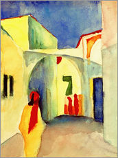 Galleritryck  A Glance down an Alley in Tunis - August Macke