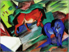 Akrylglastavla  Red and Blue Horse - Franz Marc