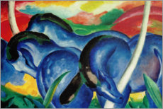 Premiumposter  Large blue horses - Franz Marc