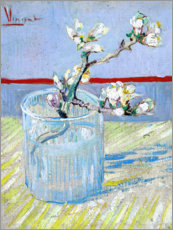Aluminiumtavla  Blossoming Almond Branch in a Glass - Vincent van Gogh