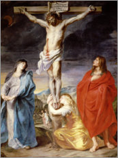 Canvastavla  Christ on the Cross with the Virgin, St. John and Mary Magd - Anthonis van Dyck
