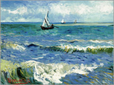 Premiumposter  The Sea at Saintes-Maries-de-la-Mer - Vincent van Gogh