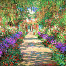 Självhäftande poster A pathway in Monet's Garden at Giverny