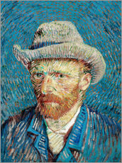Galleritryck  Vincent van Gogh with Grey Hat - Vincent van Gogh