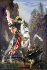Galleritryck  St. George and the Dragon - Gustave Moreau