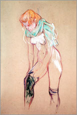 Galleritryck  Woman Pulling up her Stocking - Henri de Toulouse-Lautrec