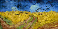 Trätavla  Wheatfield with crows - Vincent van Gogh