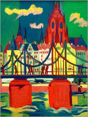 Galleritryck  The Frankfurt Cathedral - Ernst Ludwig Kirchner