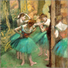 Premiumposter  Dancers in Pink and Green - Edgar Degas