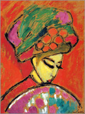 Galleritryck  Young Girl in a Flowered Hat - Alexej von Jawlensky
