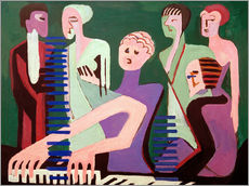 Galleritryck  Singer at the piano - Ernst Ludwig Kirchner