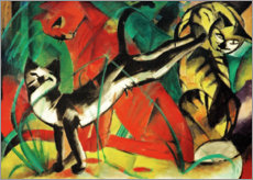 Akrylglastavla  Three cats - Franz Marc