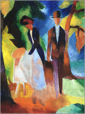 Galleritryck  People at the blue lake - August Macke