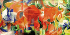 Poster  Playing forms - Franz Marc
