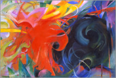 Akrylglastavla  Fighting forms - Franz Marc