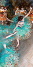 Akrylglastavla  The Green Dancer - Edgar Degas