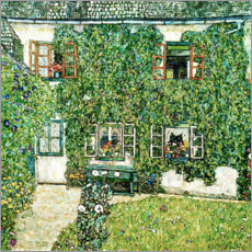 Trätavla  Forester's house in Weissenbach on Attersee lake - Gustav Klimt