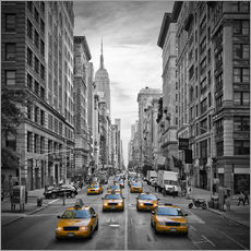 Självhäftande poster  NEW YORK CITY 5th Avenue Traffic - Melanie Viola