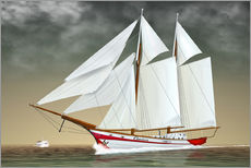 Galleritryck  Sailing boat, two-masted sailing boat - Kalle60