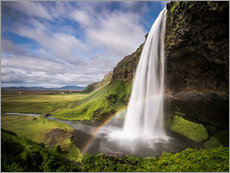 Galleritryck  Sejalandsfoss Waterfall with Rainbow - Andreas Wonisch