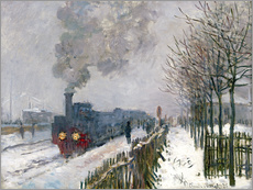 Självhäftande poster  Train in the snow (The Locomotive) - Claude Monet