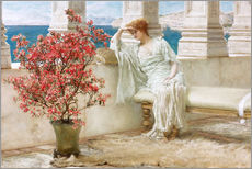 Galleritryck  Her eyes are with her thoughts and they are far away - Lawrence Alma-Tadema