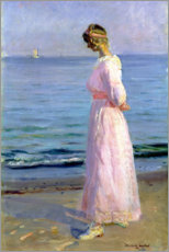 Premiumposter Girl in a Pink Dress, 1914