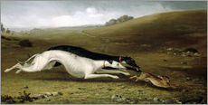 Galleritryck  Hare Coursing in a Landscape, 1870 - John Fitz Marshall