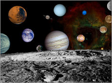 Galleritryck  Montage of the planets