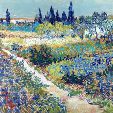 Canvastavla  Garden at Arles - Vincent van Gogh