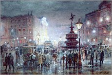 Galleritryck  Piccadilly Circus at Night, 1911 - Thomas Prytherch