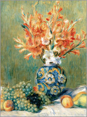 Galleritryck  Still Life with Fruit and Flowers - Pierre-Auguste Renoir