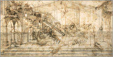 Galleritryck  Perspective Study for the background of the Adoration of the Magi - Leonardo da Vinci