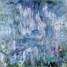 Premiumposter Waterlilies and Reflections of a Willow Tree, 1916-19