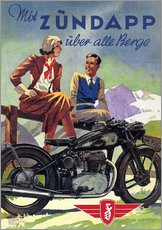 Galleritryck  With Zündapp over the hills (German) - Advertising Collection