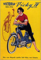 Galleritryck  Who's talking about mopeds, praises Vicky Victoria - Advertising Collection
