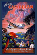Premiumposter  Fly to Caribbean by clipper - Travel Collection