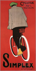 Premiumposter Bicycles from Amsterdam (Dutch)