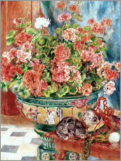 Premiumposter Geraniums and Cats