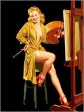 Galleritryck  Pin up with a color palette - Al Buell