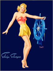 Självhäftande poster  Pin Up - Ship Shape - Al Buell