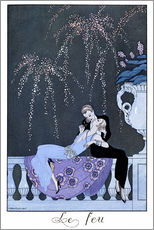 Galleritryck  The Fire - Georges Barbier